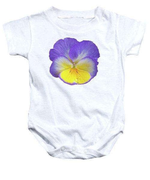 Tears Of Joy - Purple Pansy Baby Onesie