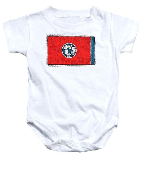 Tennessee Bathroom Flag Baby Onesie