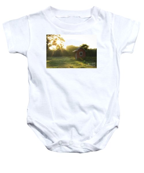 Baby Onesie featuring the photograph Texas Farm by Vincent Bonafede
