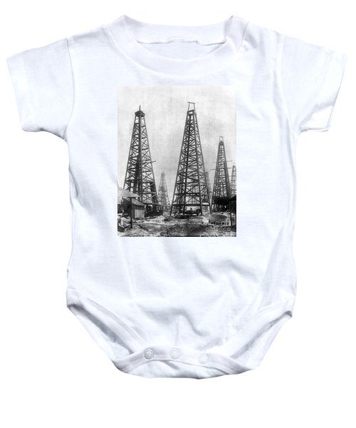 Texas: Oil Derricks, C1901 Baby Onesie