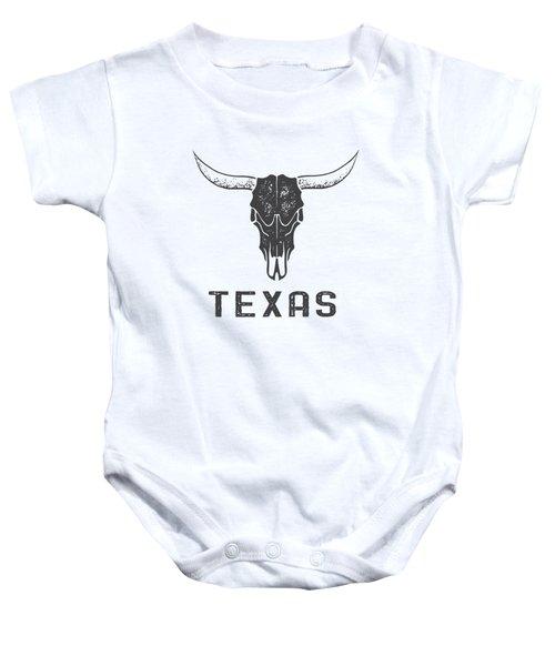 Texas Steer Skull Tee Baby Onesie