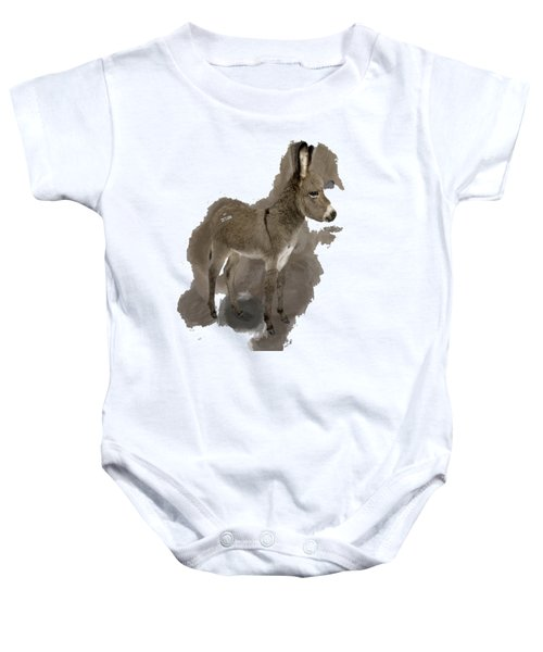 That Cute Donkey Foal In Profile Baby Onesie
