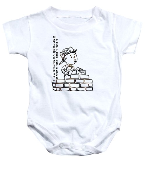 That Thou Art Peter Matthew Chapter 16 Baby Onesie
