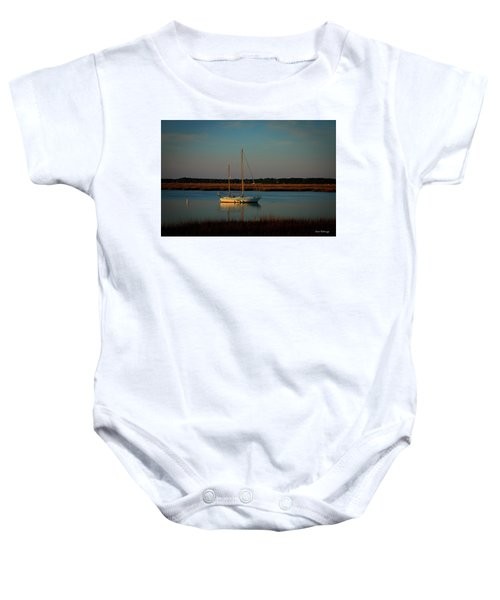 The Anchor Holds 2 Beaufort South Carolina Sailboat Art  Baby Onesie