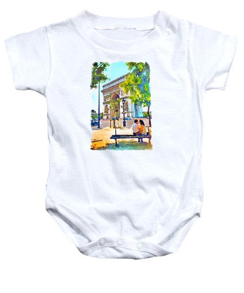 The Arc De Triomphe Paris Baby Onesie by Marian Voicu
