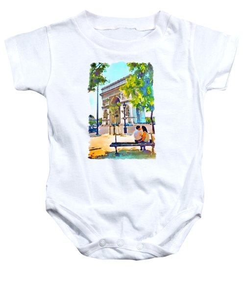 The Arc De Triomphe Paris Baby Onesie