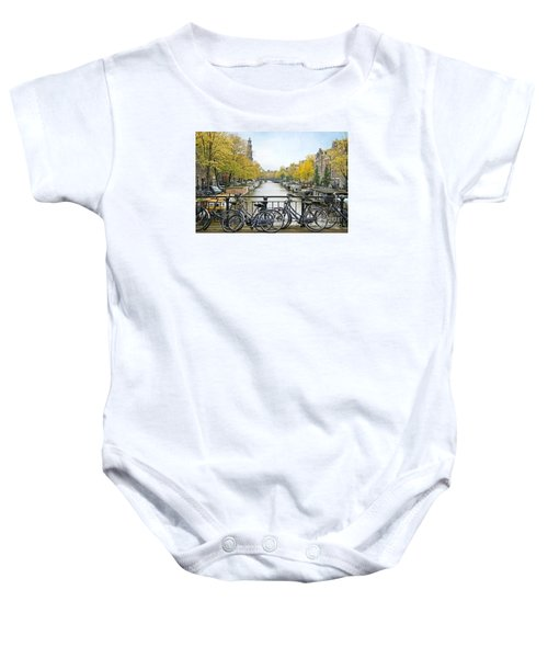 The Bicycle City Of Amsterdam Baby Onesie