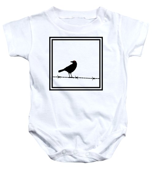 The Black Crow Knows T-shirt Baby Onesie