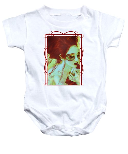 The Bleeding Dream - Self Portrait Baby Onesie by Jaeda DeWalt
