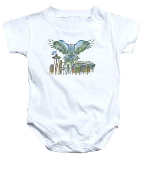 The Blue And Green Overlay Baby Onesie by Julie Senf