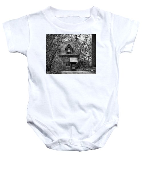 The Carriage House In Black And White Baby Onesie