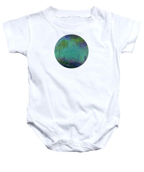 The City In The Distance Baby Onesie by Mary Wolf