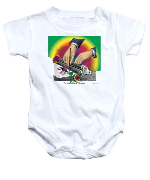 The Creation Of Flowers Baby Onesie