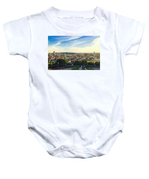 The Domes Of Rome Baby Onesie