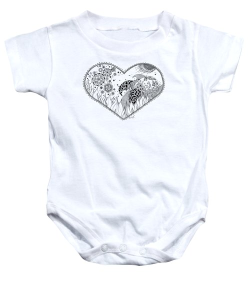 Baby Onesie featuring the drawing The Four Elements by Ana V Ramirez