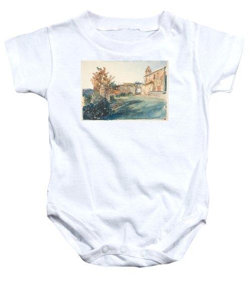 The Garden Of San Miniato Near Florence Baby Onesie