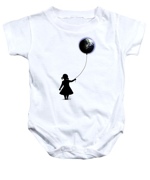 The Girl That Holds The World - White  Baby Onesie