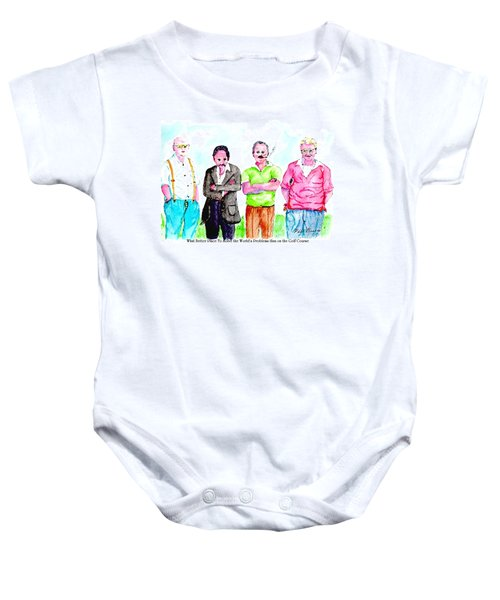The Golf Course, A Place For Solving Problems Baby Onesie