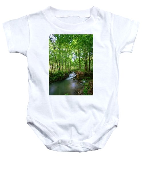 The Green Forest Baby Onesie