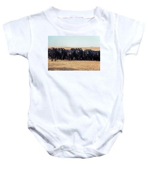 The Herd Rushes In Baby Onesie
