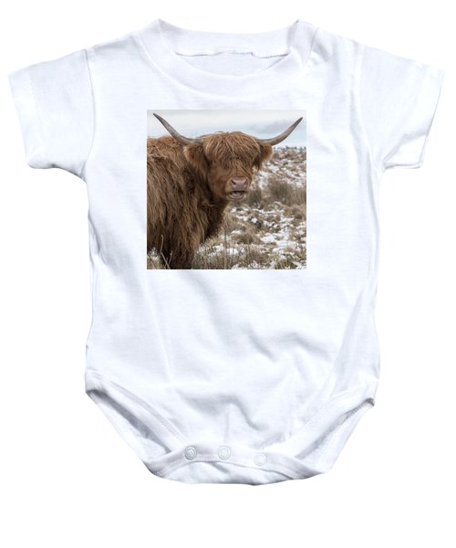 The Laughing Cow, Scottish Version Baby Onesie by Jeremy Lavender Photography