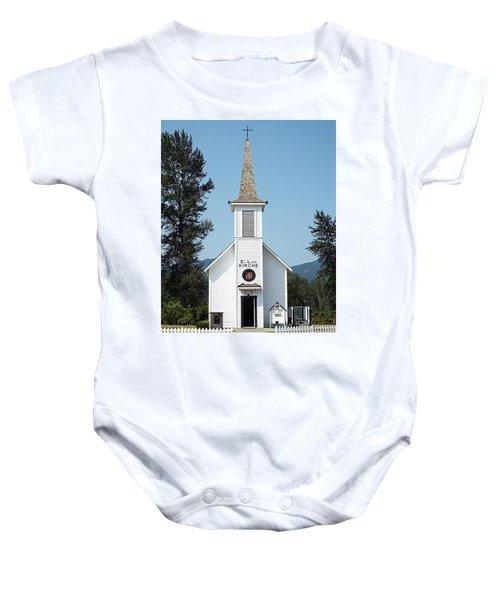 The Little White Church In Elbe Baby Onesie