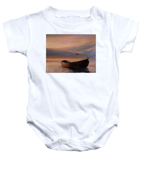 A Lone Boat Baby Onesie