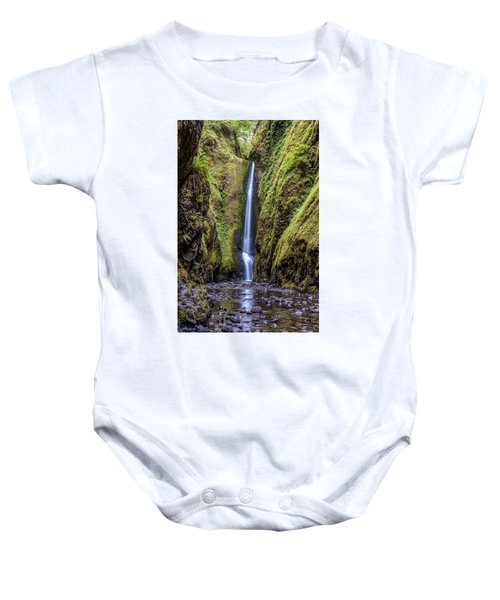 The Lush And Green Lower Oneonta Falls Baby Onesie