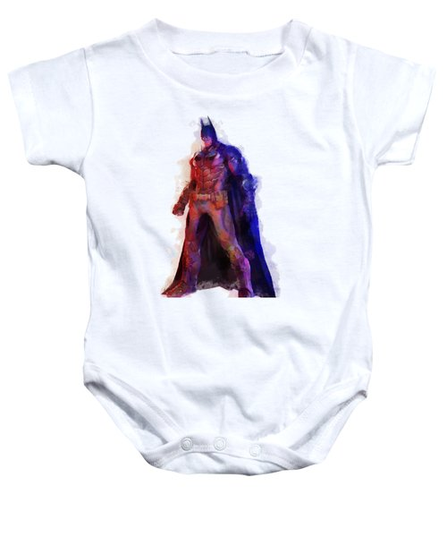 The Man With A Cape Baby Onesie