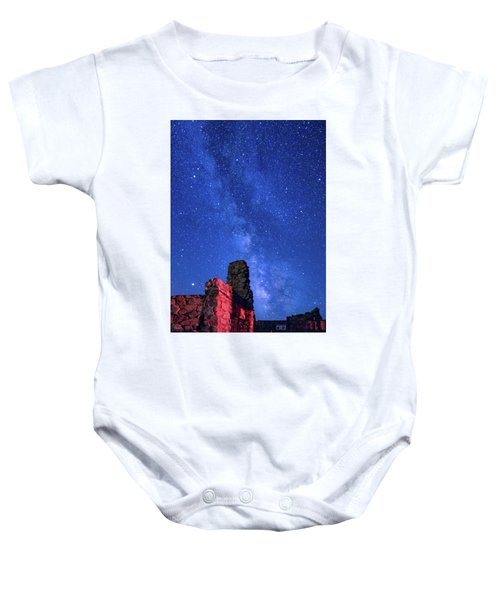 The Milky Way Over The Crest House Baby Onesie