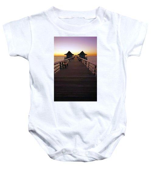 The Naples Pier At Twilight Baby Onesie