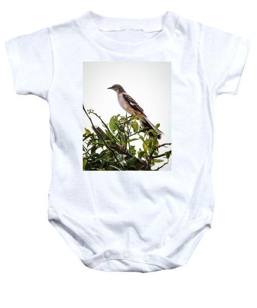 The Northern Mockingbird Baby Onesie