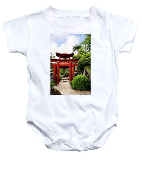 The Oriental Gate To Happiness Baby Onesie
