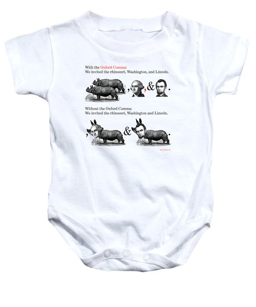 The Oxford Comma Baby Onesie