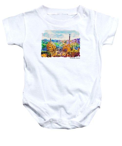 Park Guell Barcelona Baby Onesie