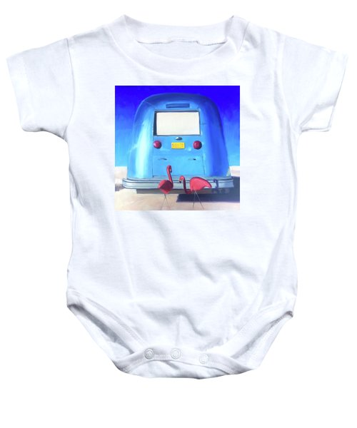 The Pink Hitchhikers Baby Onesie