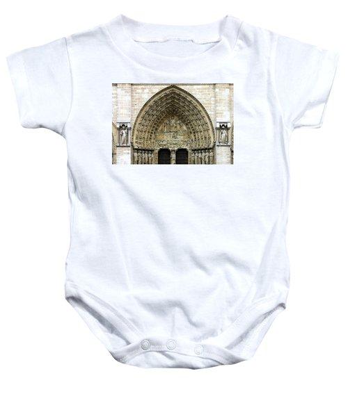 The Portal Of The Last Judgement Of Notre Dame De Paris Baby Onesie