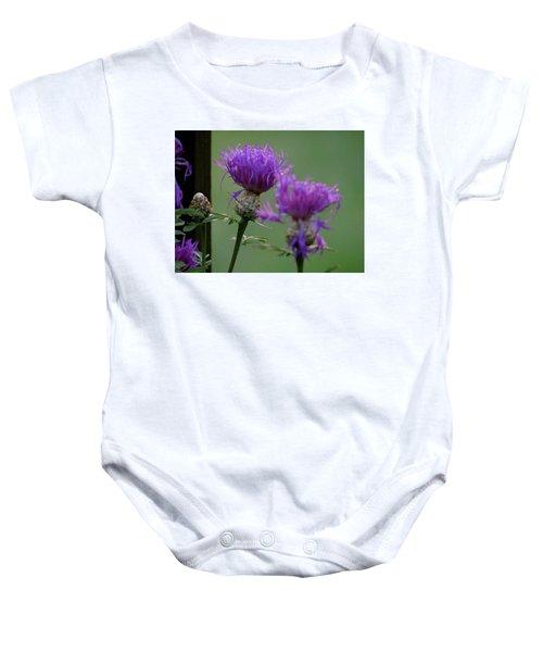 The Purple Bloom Baby Onesie
