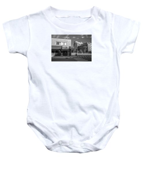 The Riv Ion Black And White Baby Onesie