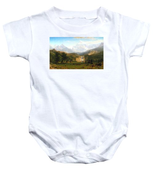 The Rocky Mountains, Lander's Peak, C. 1863 Baby Onesie