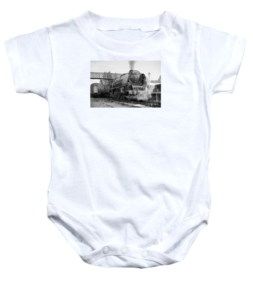The Royal Scot In Black And White Baby Onesie