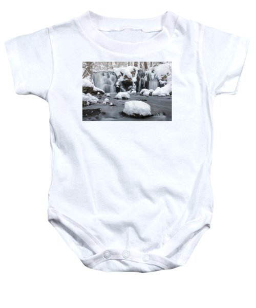 The Secret Waterfall In Winter 1 Baby Onesie