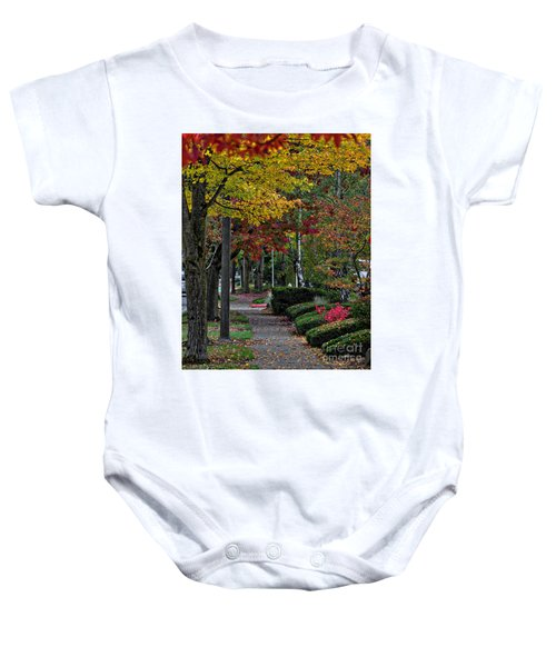 The Sidewalk And Fall Baby Onesie