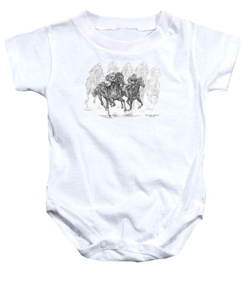 The Thunder Of Hooves - Horse Racing Print Baby Onesie