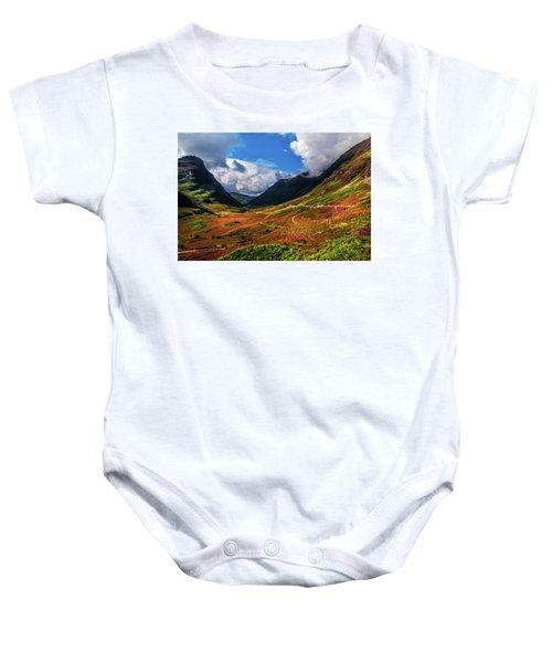 The Valley Of Three Sisters. Glencoe. Scotland Baby Onesie