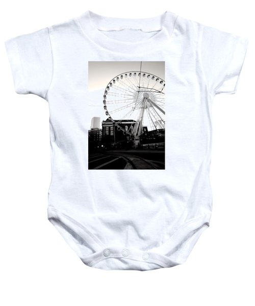 The Wheel Black And White Baby Onesie