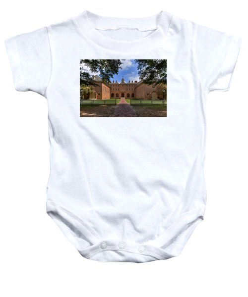 The Wren Building At William And Mary Baby Onesie