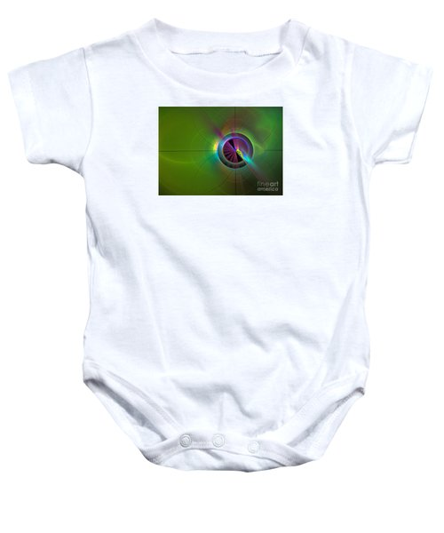 Theory Of Green - Abstract Art Baby Onesie