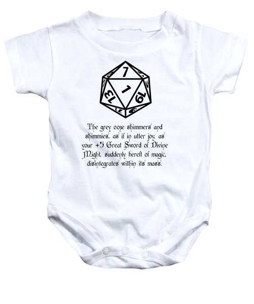 There Goes That Sword Baby Onesie by Jon Munson II