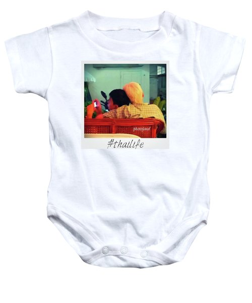 Baby Onesie featuring the photograph Thinking About Escaping Us by Mr Photojimsf
